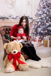 Zabezpieczony: Klementynka z Mamą – sesja świąteczna